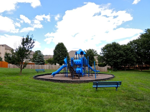 Great playground located between the pool and outdoor basketball court