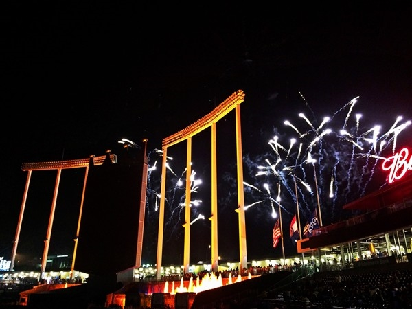 """Friday night fireworks are a popular part of baseball at the """"K"""""""
