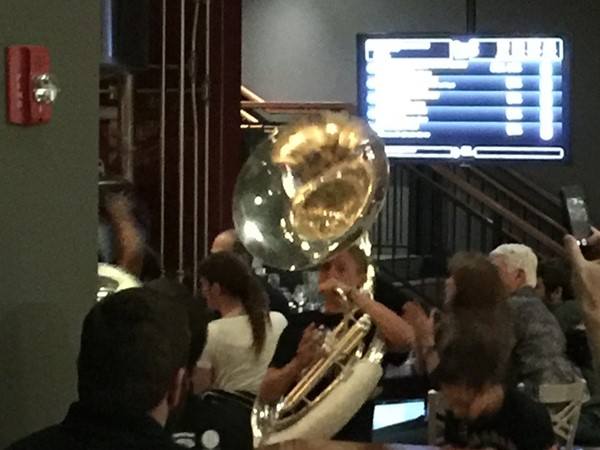 KSU Marching Band on a random restaurant visit