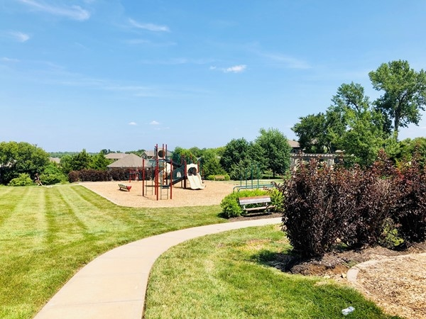 Playground and walking trail in Forest View