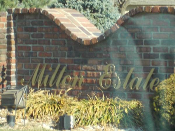 Milton Estates entrance