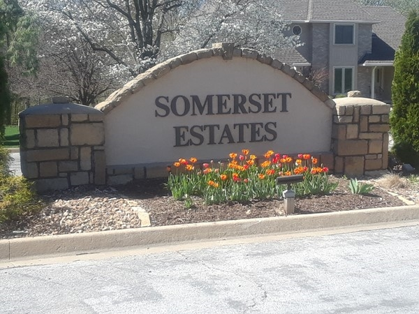 The flowers are in bloom at Somerset Estates