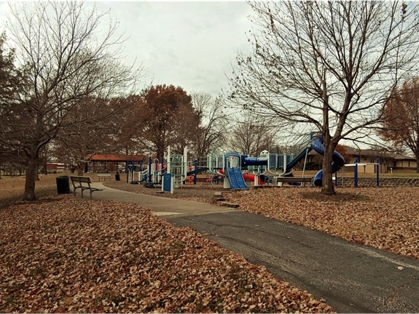Rotary Park has two playgrounds and a walking path - a great place to bring kids and pets