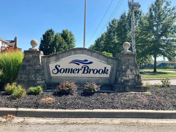 Entrance into the Somerbrook subdivision in Northland Kansas City