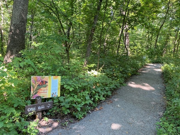 Storybook trail at Burr Oak Woods Conservation Area