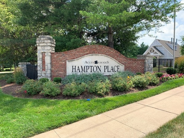 Hampton Place entrance sign