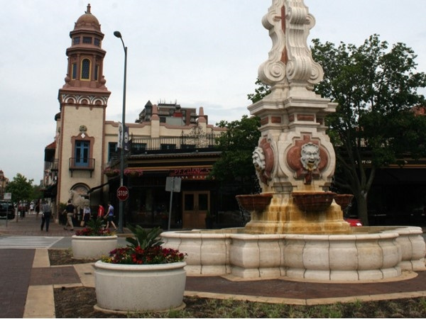 One of the beautiful fountains on the Plaza