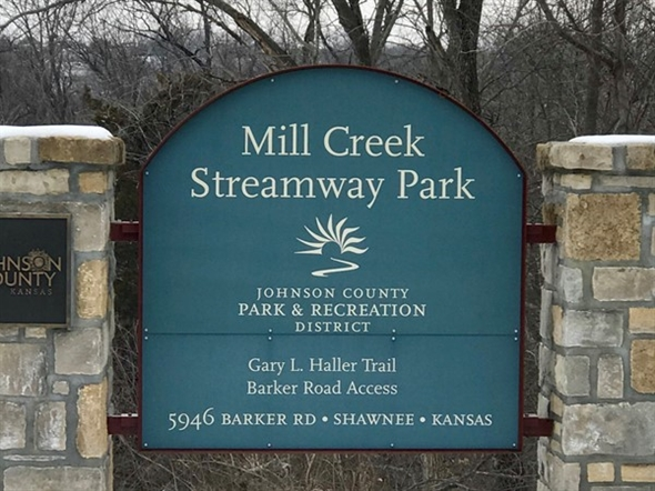 The trails of Mill Creek Streamway in Shawnee