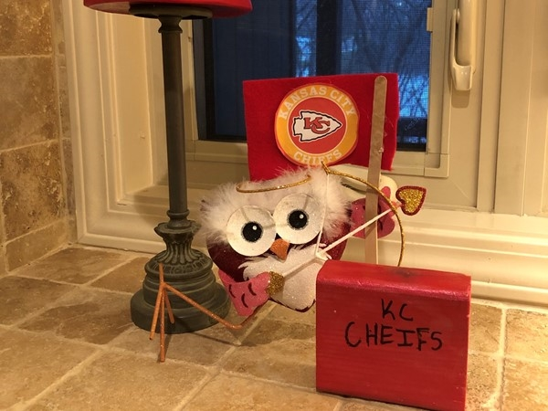 We are ready for Valentine's Day and Superbowl Sunday - Go Chiefs