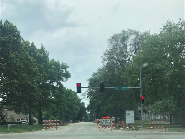 Roadwork is about to replace the street.  Avoid 83rd if you don't live on that street