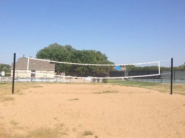 Sand volley ball court.