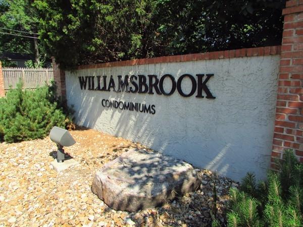 Williamsbrook entrance on 75th Street