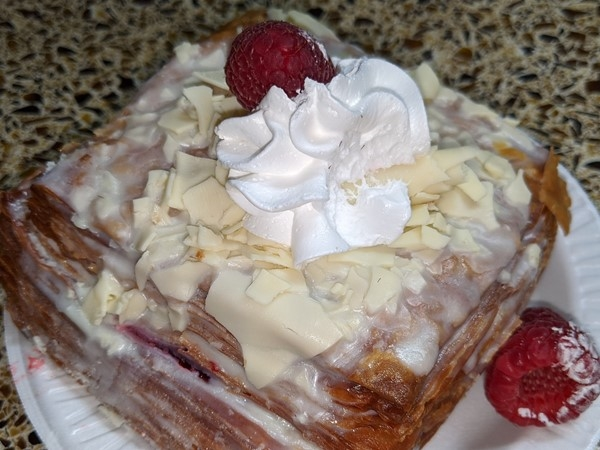 Raspberry white chocolate cronut from Donut King. The best