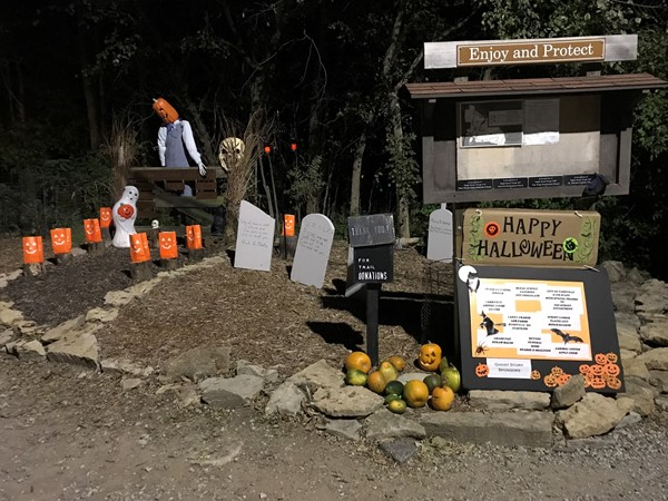 Parkville Nature Sanctuary - decorated for Ghost Stories Fundraiser