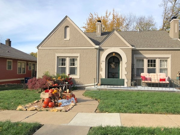 Homes in Liberty are decorated for fall