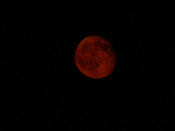 Red moon last night