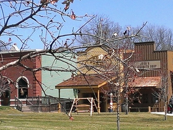 Stroll through the shops and stop by the blacksmith's shop  at Deanna Rose Farmstead
