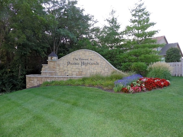 Entrance to Prairie Highlands