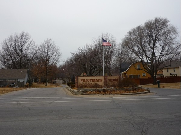 The entrance to the Willowbrook Subdivision