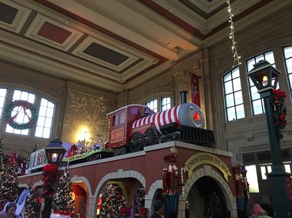 Union Station Kansas City MO. It's gorgeous this time of year