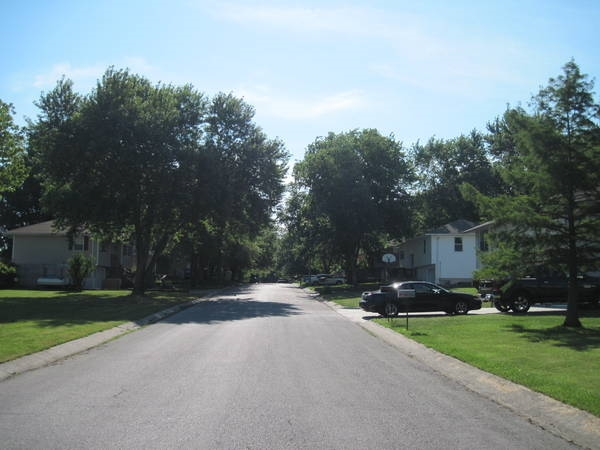 View looking east up Shearer Avenue - one of the many tree lined streets