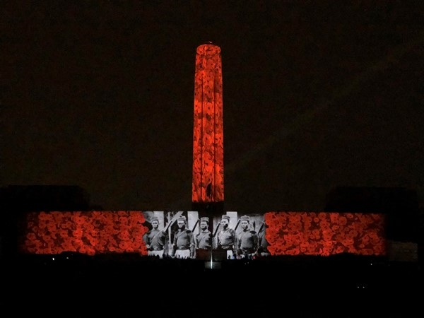 The poppy display at WW1 Museum/Liberty Memorial in honor of 100 years after Armistice Day