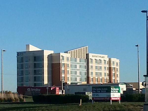 Lenexa is growing! There is a new Hyatt Place Hotel at 87th Street and Renner Road
