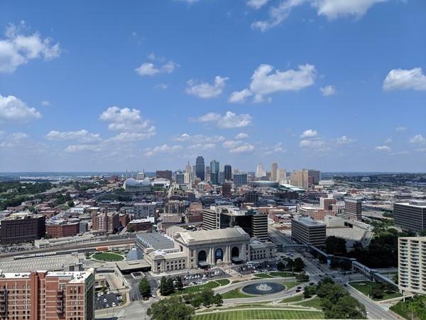 The best views of KC are enjoyed from the observation tower at the WWI Museum