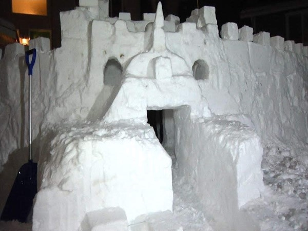 With all of this snow, I know we could get the community together and build an amazing igloo