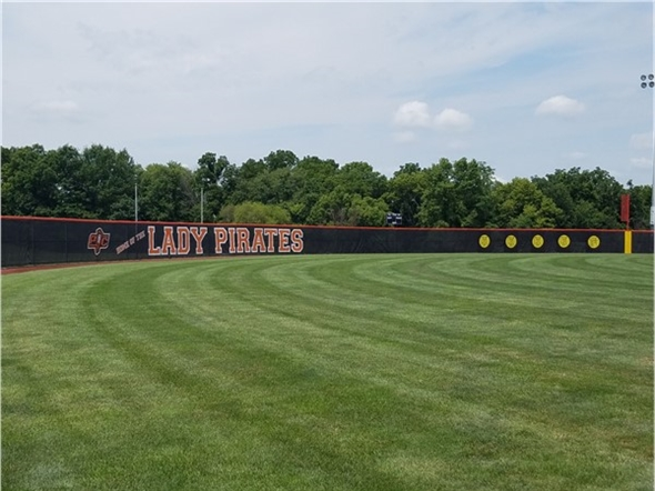 The Lady Pirates softball field is looking good and ready to begin play