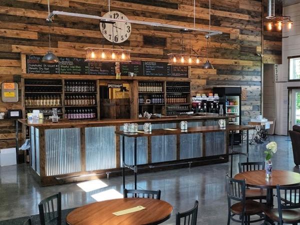 Inside Peculiar Winery tasting room