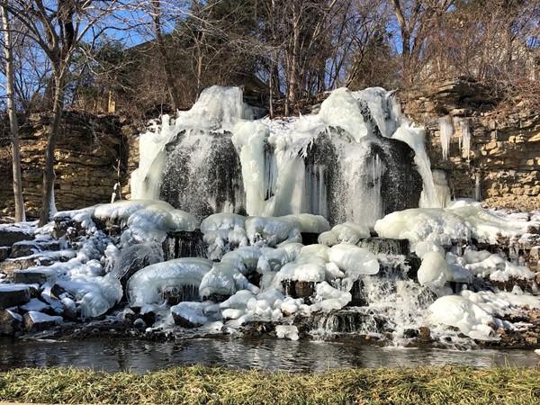 Cedar Creek frozen waterfall
