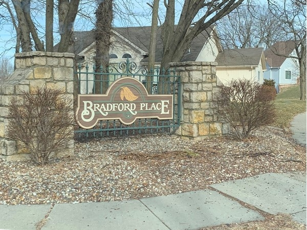 Bradford Place entrance sign