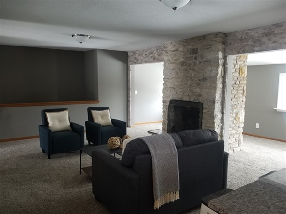 Staging Dreams does a good job on a living room at Manor Oaks