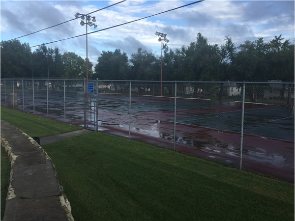 Tennis courts at 5th Street Park. Totaling five courts for your enjoyment, day or night