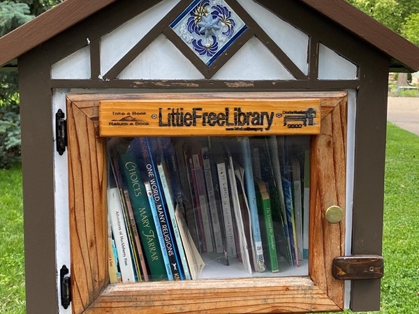 "Love our ""free libraries"" around Brookside"