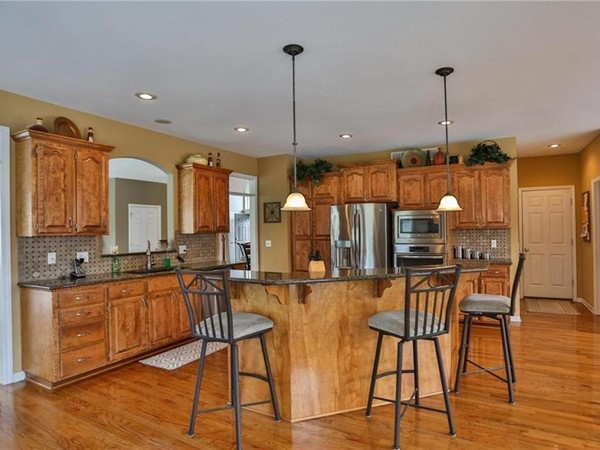 A big kitchen for entertaining at Rock Hill Subdivision in Blue Springs, Missouri