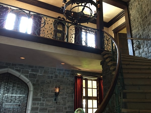 Staircase inside Weatherby Lake Castle