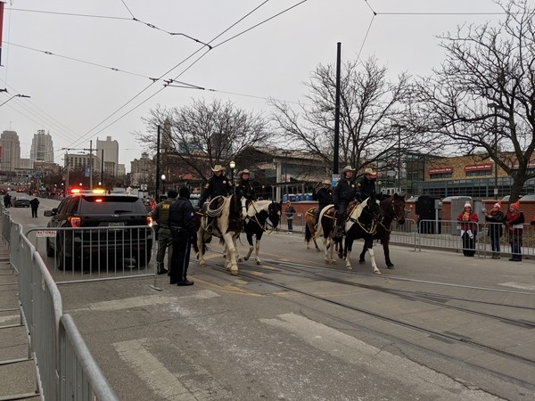 The River Market is host to many big events.  Pictured is before the KC Chiefs Superbowl Parade