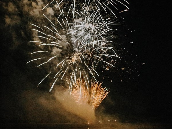 Lakeside fireworks - we all pitch in for a fantastic show every year