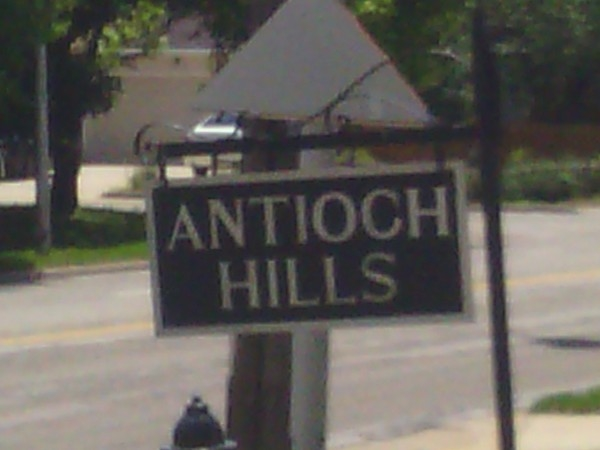 Antioch Hills entry marker