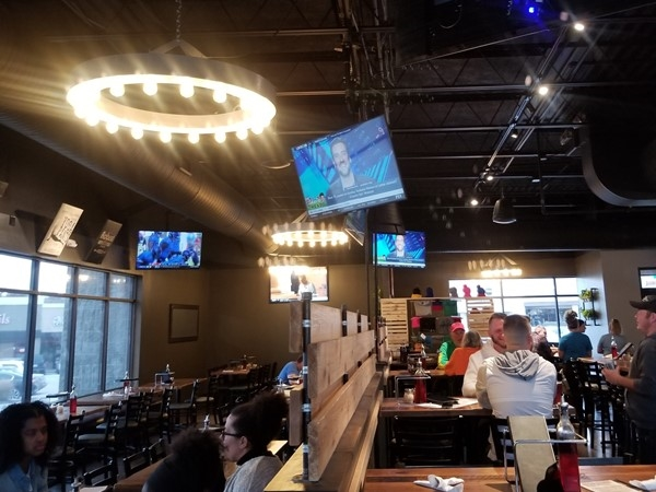 Inside Martin City Brewery in Lee's Summit. Great pizza and craft beers