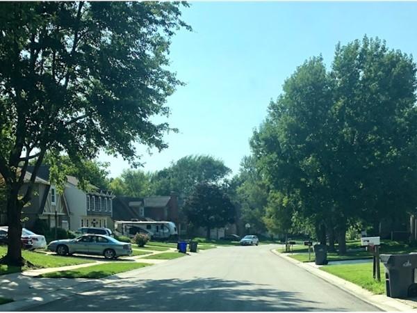 The quiet neighborhood of Sheridan Bridge