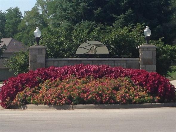 River Hills neighborhood entrance.