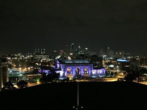 The view of the city from the Liberty Memorial is breathtaking