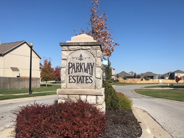 Front entrance to the beautiful Parkway Estates Subdivision