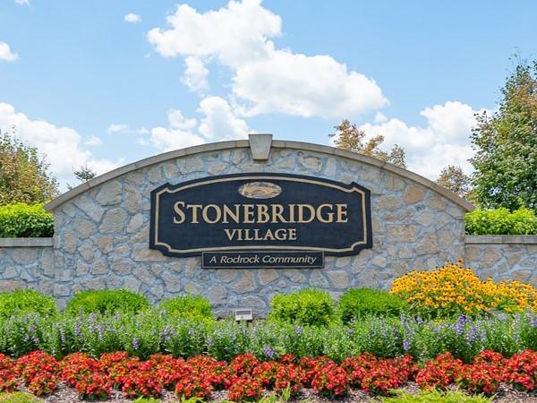 Entry monument for Stonebridge Village, Olathe KS - A Rodrock community development
