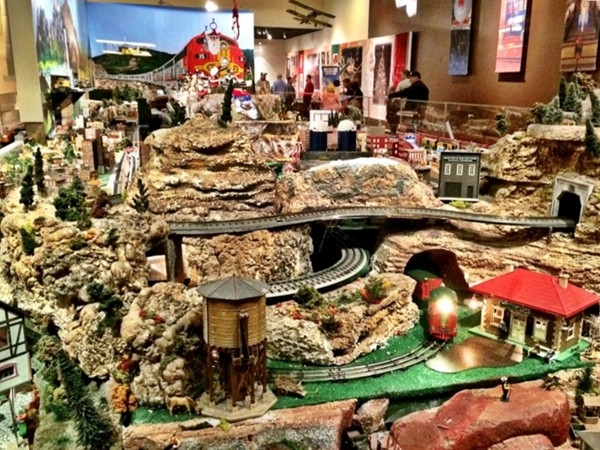 Children of all ages can enjoy the miniature trains on display at downtown's Union Station