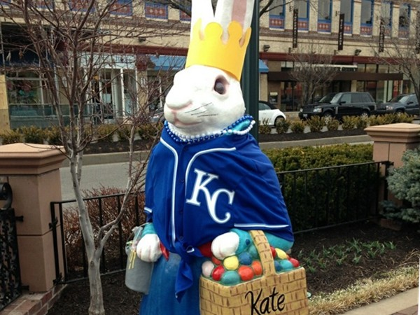 The Country Club Plaza Easter Bunnies were unveiled March 28 to celebrate the Royals home opener!