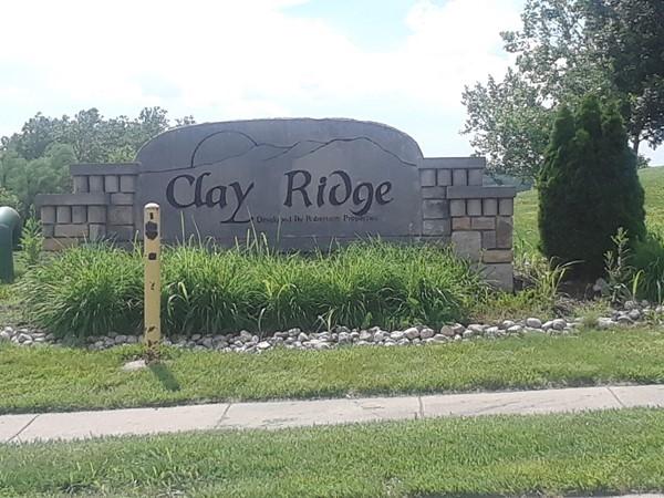 Love the green grass in Clay Ridge